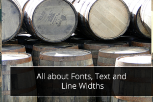 All about Fonts, Text and Line Widths
