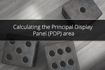 Calculating the Principal Display Panel (PDP) area