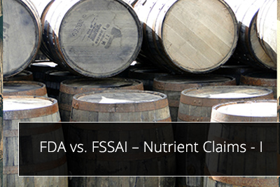 FDA vs. FSSAI – Nutrient Claims - I