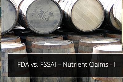 FDA vs. FSSAI – Nutrient Claims - I