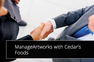 ManageArtworks with Cedar's Foods