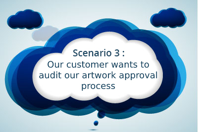 Scenario 3: Our customer wants to audit our artwork approval process
